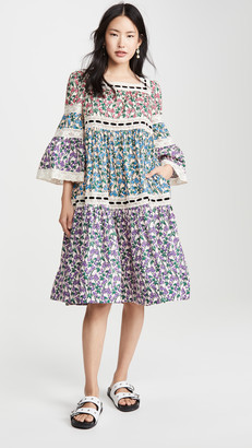 Marc Jacobs Tiered Prairie Dress with Flared Sleeves