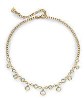 Temple St. Clair Royal Blue Moonstone, Diamond & 18K Yellow Gold Half Bib Necklace