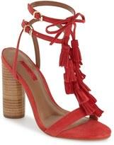 Topshop Women's 'Ripple' Tasseled Round Heel Sandal