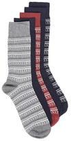 Topman Men's 5-Pack Geometric Socks