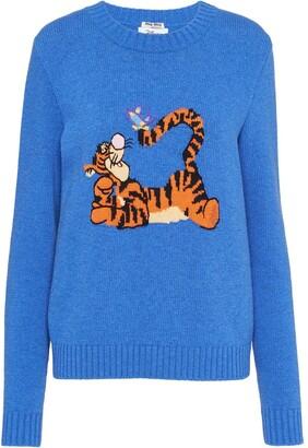 Miu Miu Tigger intarsia knit jumper