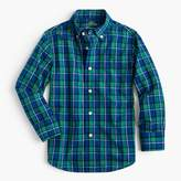 J.Crew Kids' Secret Wash shirt in cobalt plaid