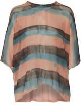 Raquel Allegra Striped Silk-Chiffon Top