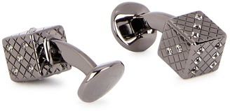 Tateossian Dice gunmetal cufflinks