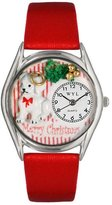 Whimsical Watches Women's S1221010 Christmas Puppy Red Leather Watch