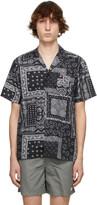 Thumbnail for your product : Bather Black & White Bandana Camp Short Sleeve Shirt