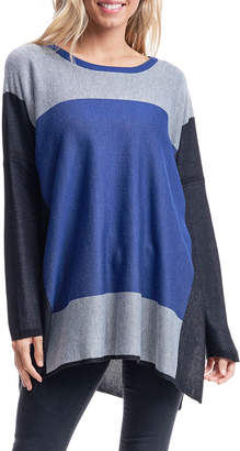 Fever Colorblock Sweater w/ Side Slits