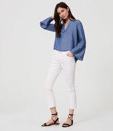 LOFT Modern Kick Crop Jeans in White