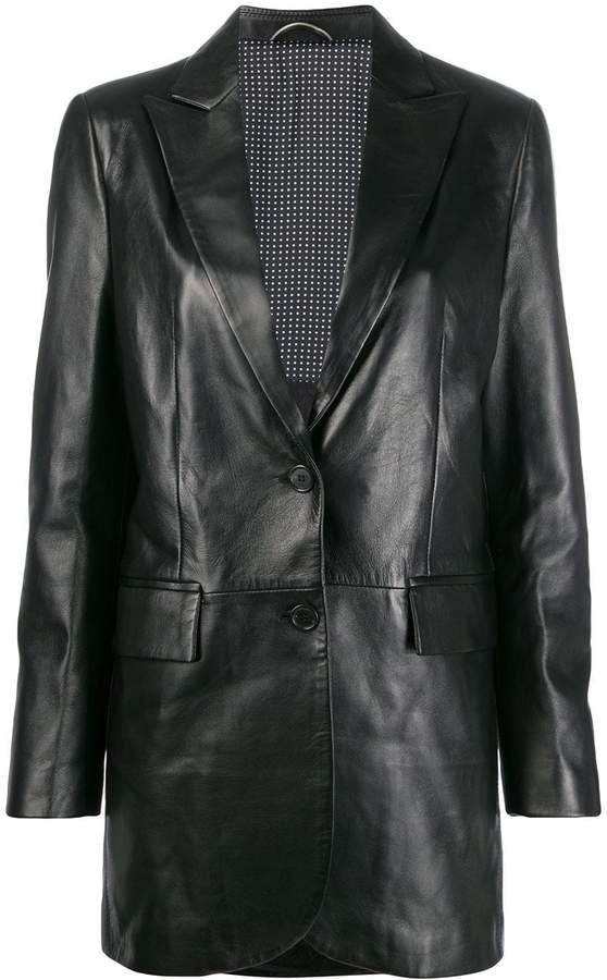 Ermanno Scervino stitched panels leather jacket