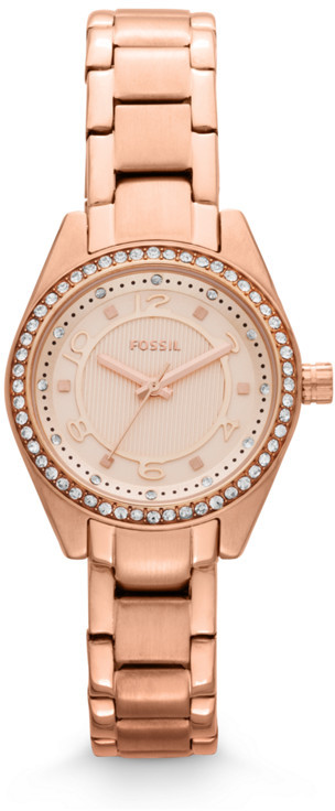 Fossil Carissa Three-Hand Stainless Steel Watch - Rose