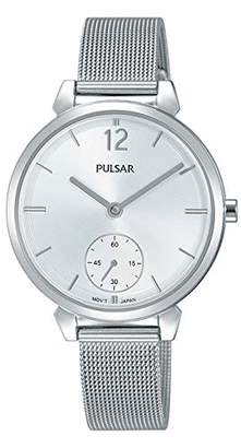 Pulsar Womens Analogue Classic Quartz Watch with Stainless Steel Strap PN4053X1