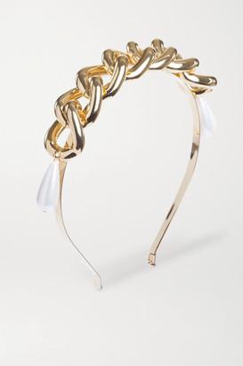 Rosantica Gold-tone Faux Pearl Headband - one size