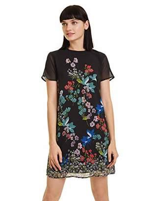 Desigual Women's LORETHA Mini Short Sleeve Dress,14 (Manufacturer Size: )
