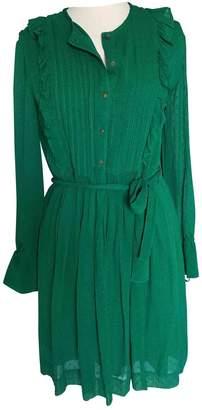 Green Cotton Essentiel Antwerp Dress for Women