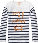 Scotch & Soda Striped Artwork T-Shirt