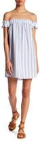 Romeo & Juliet Couture Off-the-Shoulder Seersucker Dress