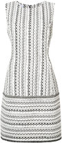 Oscar de la Renta woven sleeveless shift dress - women - Silk/Cotton/Linen/Flax/Wool - 6