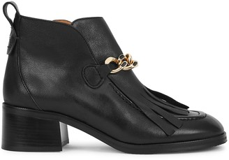 See by Chloe Mahe 50 Black Leather Ankle Boots