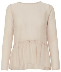 Fox + Feather - Betty Rose Dust Long Sleeve Top - 40 - White