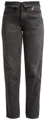 Atelier Jean Flip Fold Over Jeans - Womens - Black