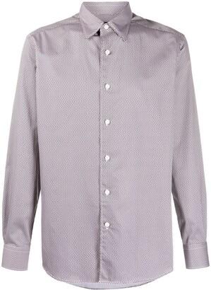 Ermenegildo Zegna Geometric Print Dress Shirt