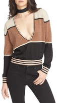 Free People Gold Dust Colorblock Sweater