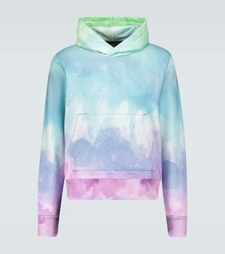 Amiri Watercolor printed hooded sweatshirt