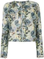 Diesel floral-print jacket - women - Cotton/Lamb Skin/Acetate - S