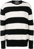 McQ striped cable jumper