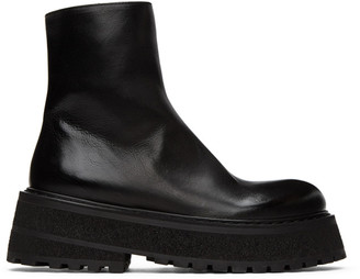 Marsèll Black Carretta Zip-Up Boots