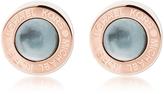 Michael Kors Logo PVD Rose Goldtone Stainless Steel Stud Earrings