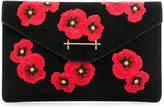 M2Malletier poppy embroidered clutch