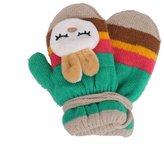 ZOONAI Baby Girls Boys Cartoon Rabbit Winter Warm Mittens Gloves with String
