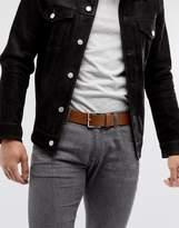 BOSS Jeeko Smooth Leather Belt in Tan