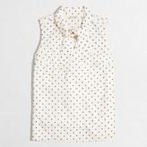 J.Crew Factory Printed sleeveless tie-neck top