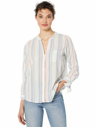 J.Crew Mercantile Women's Tie-Sleeve Collarless Button Down Shirt