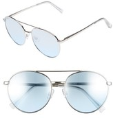 BP Women's 55Mm Colored Fashion Glasses - Silver/ Blue