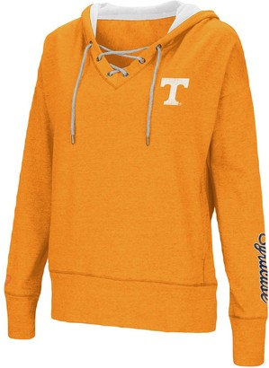 Colosseum Women's Tennessee Orange Tennessee Volunteers Rhymes Lace-Up Pullover V-Neck Hoodie