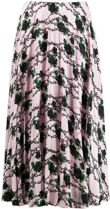 Valentino x Undercover silk pleated skirt