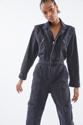 Urban Outfitters Bella Zip-Front Coverall Jumpsuit