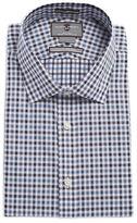 Black Brown 1826 Gingham Checkered Dress Shirt