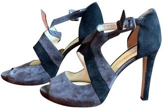 Max Mara Grey Suede Sandals