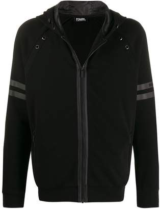 Karl Lagerfeld Paris zip-front hoodie