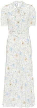 Miu Miu Floral-printed silk dress