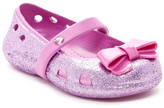 Crocs Keeley Glitter Bow Flat (Toddler & Little Kid)