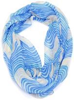 Violet Del Mar Blue Infinity Scarf