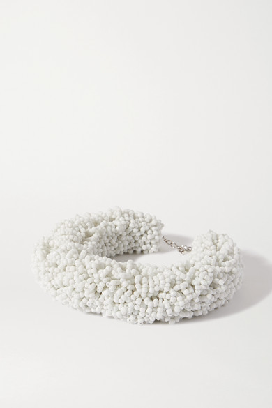 Thumbnail for your product : Dries Van Noten Beaded Necklace - White