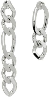 Numbering Silver 849 Asymmetric Chain Earrings