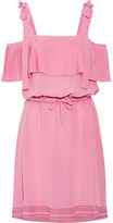 Paul & Joe Cold-shoulder Silk Crepe De Chine Dress - Pink