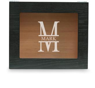 Bey-Berk Men's Personalized Wooden Cigar Humidor